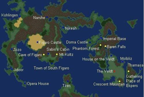 最终幻想6地图城市翻译一览[多图]