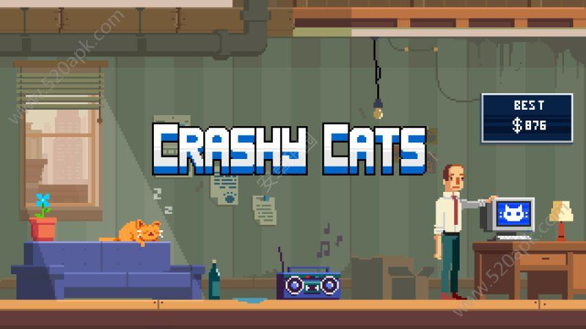 疯狂破坏猫游戏安卓版(Crashy Cats)图2: