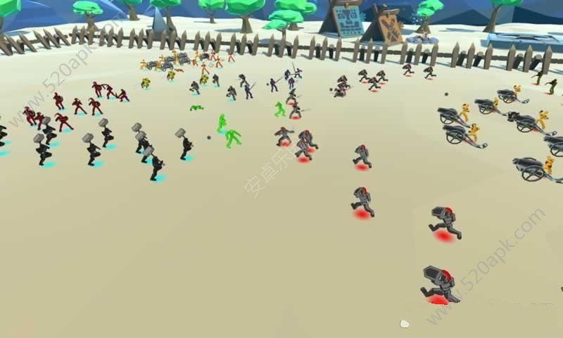 方块大战争游戏安卓版(Battle Simulation)图1: