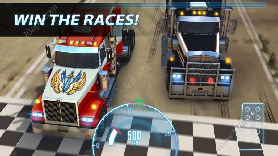 重型卡�拉力��o限金�胖形钠平獍妫�Big Truck Drag Racing含���包)�D片1
