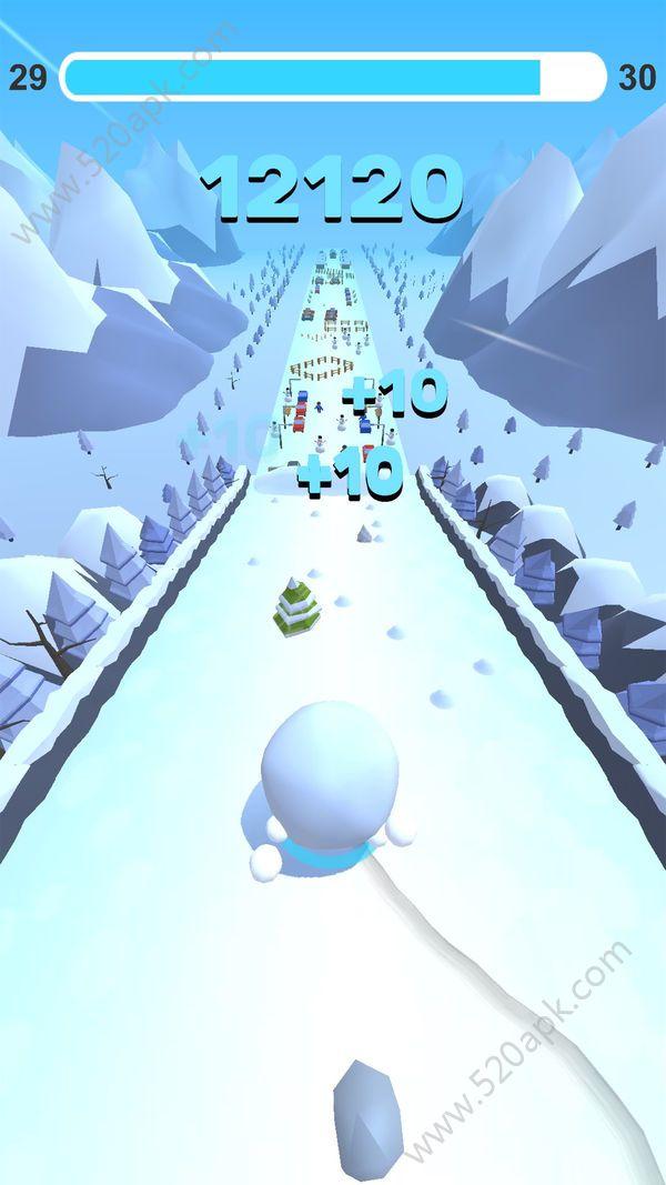 翻滚吧雪球必赢亚洲56.net官方必赢亚洲56.net手机版版(Go Snowball)  v1.0图3