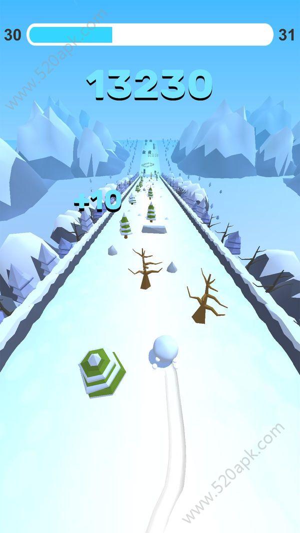 翻滚吧雪球游戏官方安卓版(Go Snowball)图片1