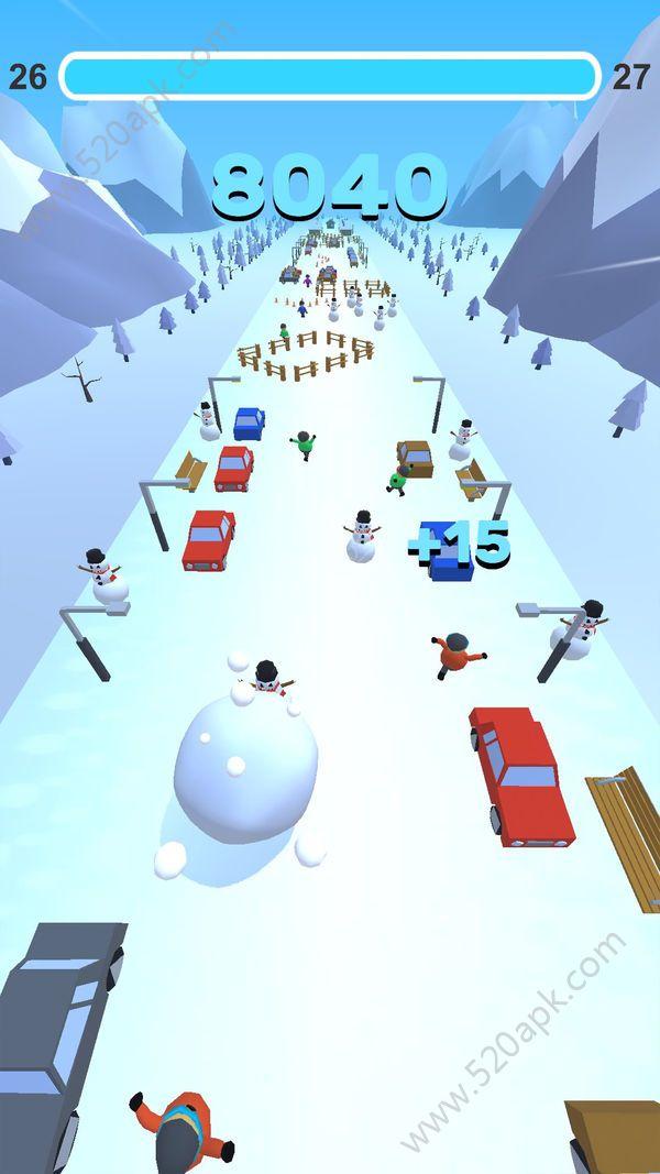 翻滚吧雪球必赢亚洲56.net官方必赢亚洲56.net手机版版(Go Snowball)  v1.0图1