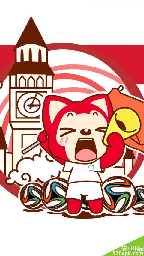 阿狸世界杯卡通手机壁纸480*854[多图]