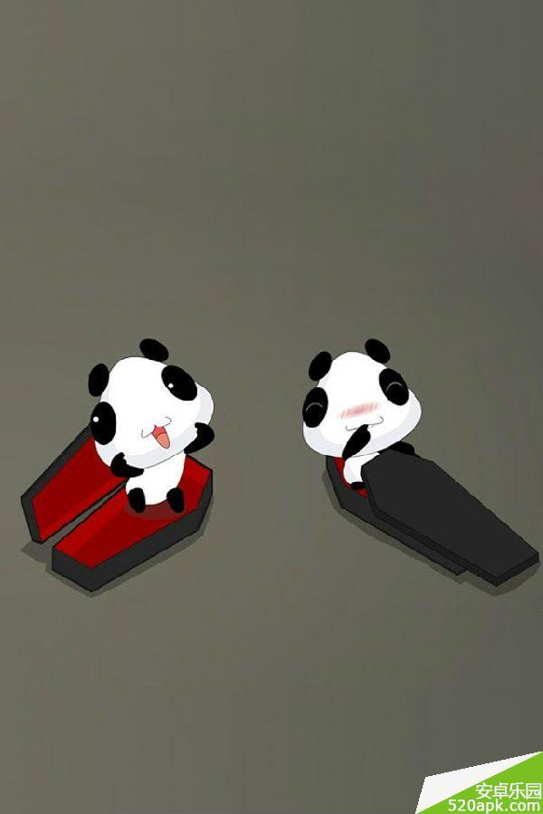 发呆可爱的小熊猫手机壁纸640*960[多图]