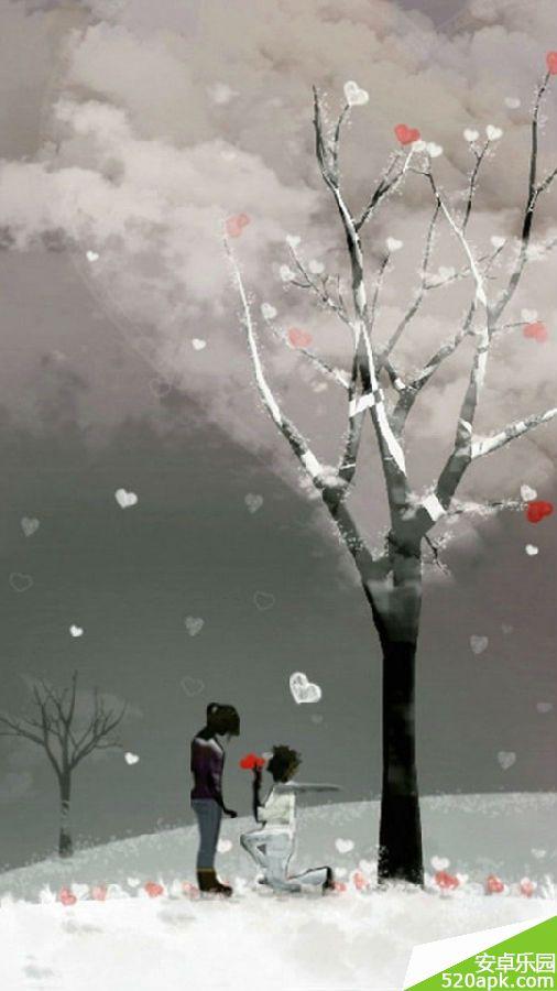 唯美爱情手机壁纸540*960[多图]