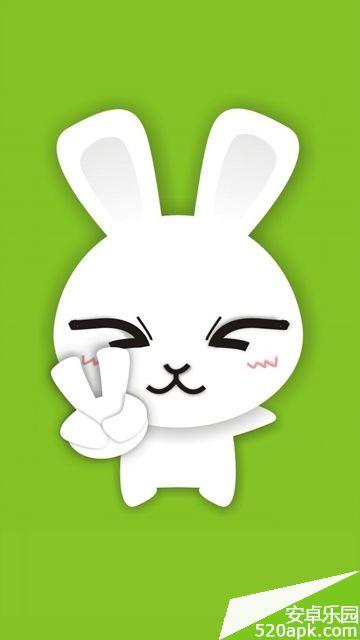 可爱兔子表情手机壁纸360*640[多图]