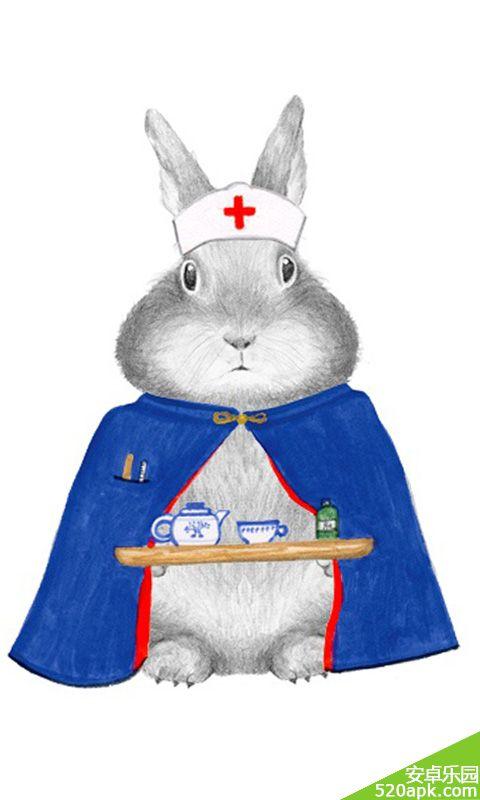 可爱萌萌兔子插画图片手机壁纸480*800[多图]