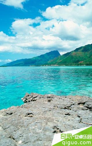 蓝色大海风景桌面壁纸480*854[多图]