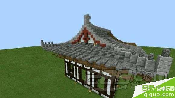 我的世界手机版中式建筑屋顶怎么建造图片