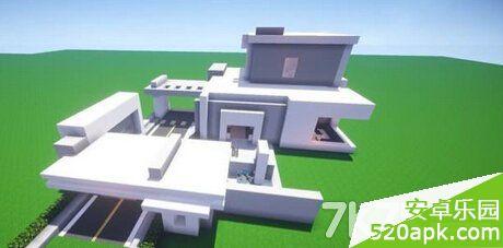我的世界简约时尚2层小别墅设计图[多图]